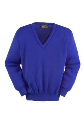 Long Sleeve Acrylic V-Neck Pullover
