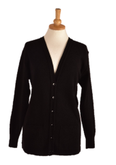 WAED edinburgh cardigan front in Black