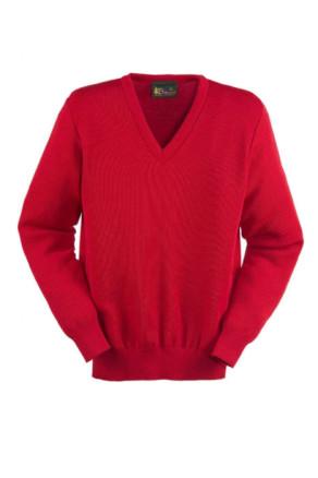 Wool-Blend V-Neck Pullover