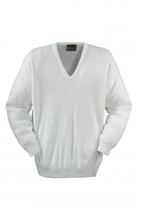 Long Sleeve Bowls V-Neck Pullover in Acrylic