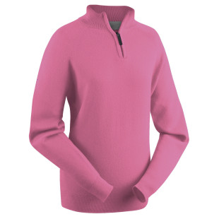 Ladies Lambswool Zip-Neck