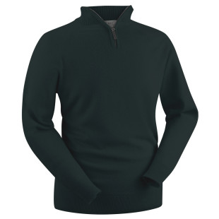 Gents Lambswool Zip-Neck