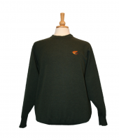Berwick Crew neck with Fly fishing embroidery