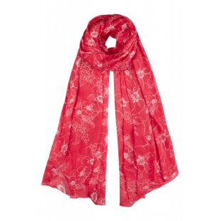 Large Tulchan Sketchy Floral Scarf