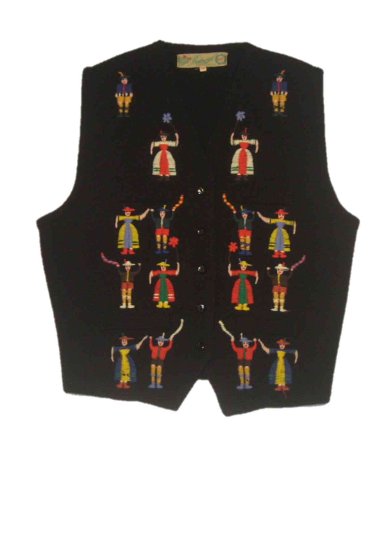 Black Embroidered Waistcoat