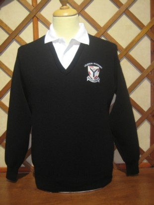 Loudoun Academy Black V neck Sweater