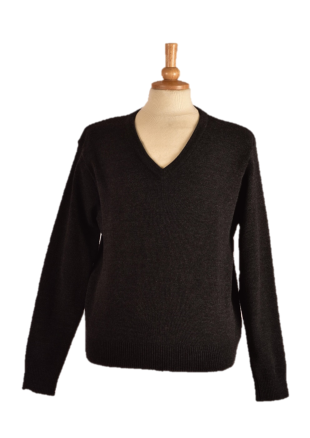 Long sleeve Acrylic V-Neck Pullover