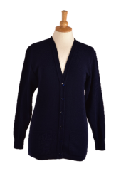WAED edinburgh cardigan front in Navy