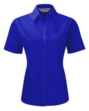 Ladies Short-Sleeve Poplin Shirt