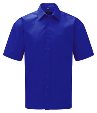 Gents Short-Sleeve Poplin Shirt