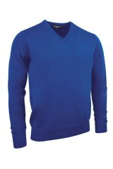 Lambswool V neck in ascot blue