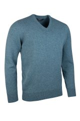 Lambswool V neck in caspian