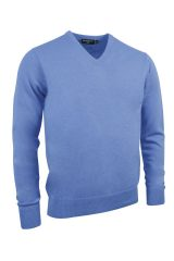 Lambswool V neck in lightblue