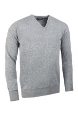 Lambswool V neck in lightgrey
