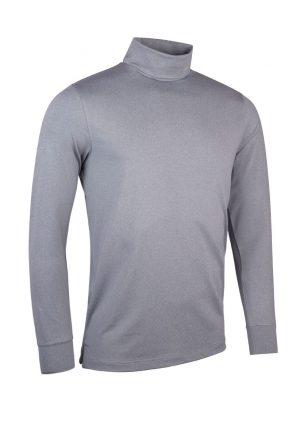 Roll Neck shirt in light grey marl