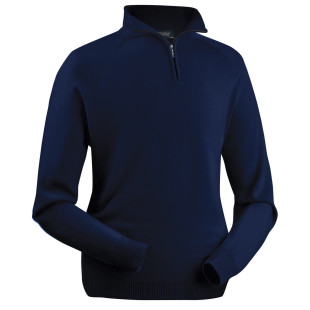 Gents Merino zip-neck