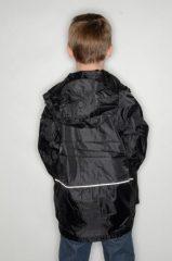 Black Waterproof Jacket rear view