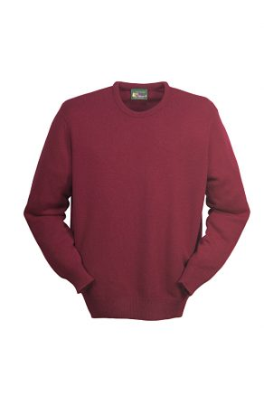 Deluxe Scottish Lambswool Crew Neck Pullover with Set-in Sleeves