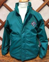 Wellington School Green Waterproof Jacket with Fleece Lining