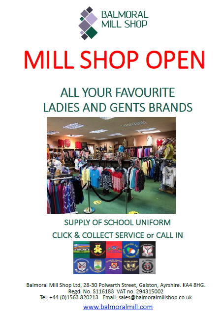 MILL SHOP OPEN