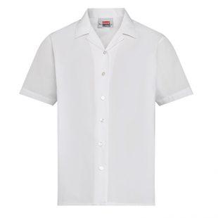 White Revere Collar Blouse